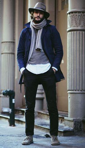 как подобрать цвет шарфа мужчине