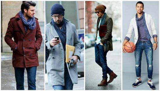 как подобрать цвет мужского шарфа