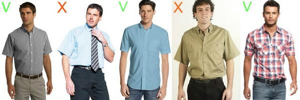 как выбрать рубашку с коротким рукавом