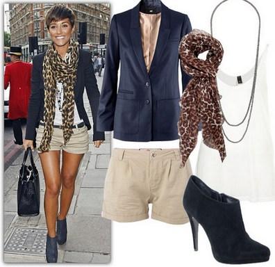 Леопардовый шарфик с пиджаком