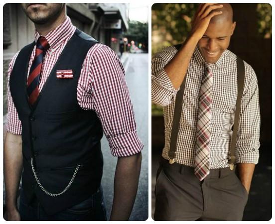 как галстук подойдет к клетчатой рубашке