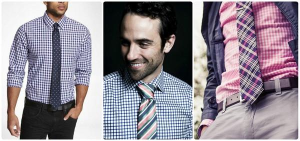 галстук для рубашки в клетку