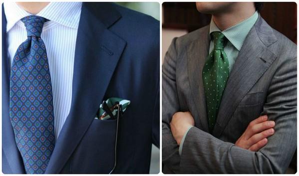 галстук к рубашке в полоску