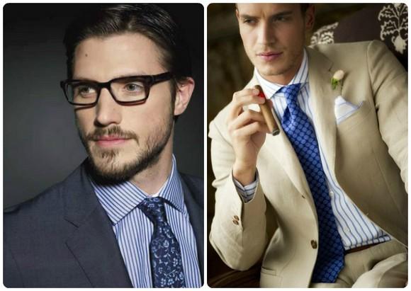 галстук к полосатой рубашке