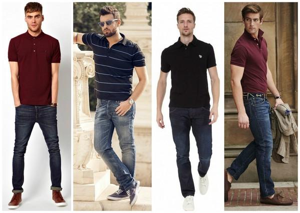 рубашка-поло с чем носить