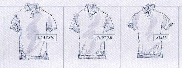 правильный размер рубашки поло