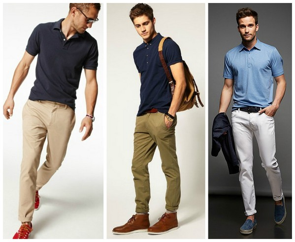 поло с брюками