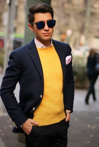 рубашка со свитером под пиджак