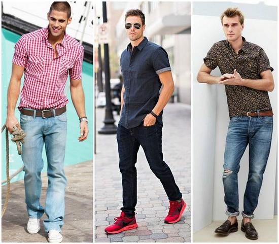 какую рубашку носить с джинсами