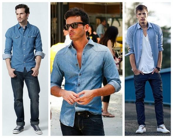рубашка под джинсы