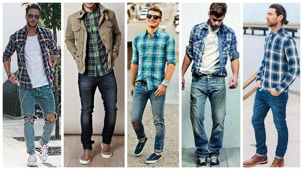 джинсы с рубашкой