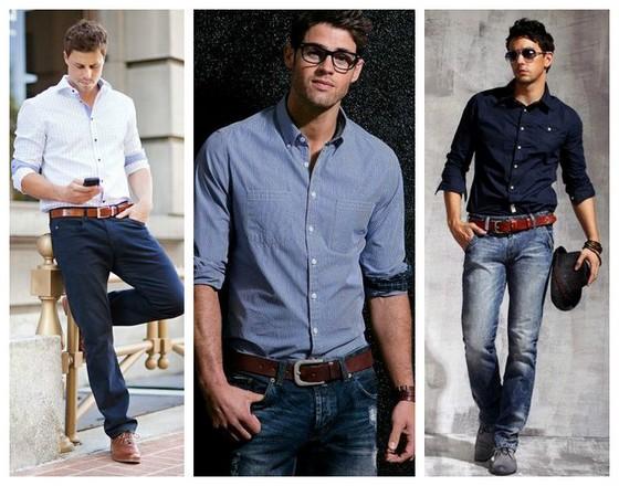 какие рубашки носить с джинсами